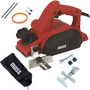 Moss Electric Power Planer Wood Plane Parallel Rebate Guides Dust Bag