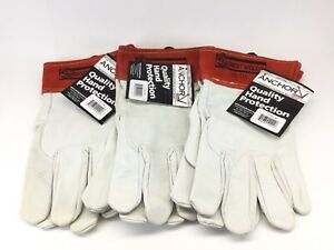 x3 Best Welds Capeskin Tig Welding Gloves Medium White red 3 Pairs