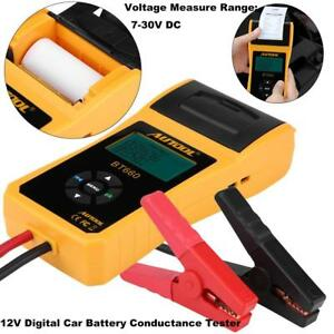 Digital Battery Electrical System Analyzer Conductance Tester 30 200ah Printer