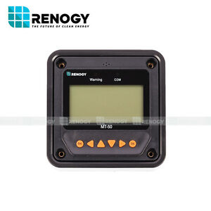 Open Box Renogy Mt 50 Remote Meter Lcd Monitor 20a 40a Mppt Charge Controller