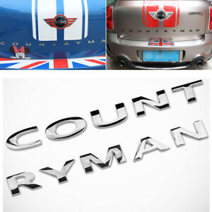 For Mini Cooper Countryman R60 3d Metal Logo Sign Emblem Badge Sticker Silver