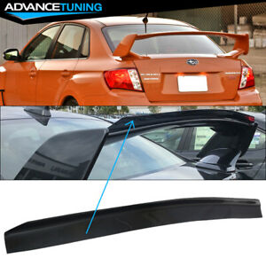 Fit 08 14 Subaru Wrx Top Gurney Flap Add On Trunk Spoiler Wing Transparent Smoke