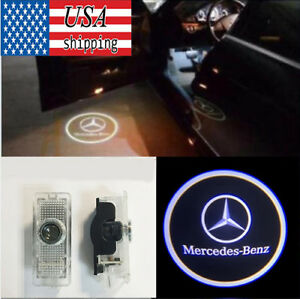 2pcs Logo Led Door Courtesy Light Ghost Shadow Laser Lamp For Mercedes Benz Clk
