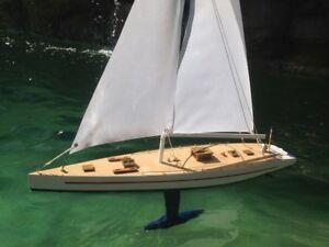 Replica Handcrafted Rc Sailboat 30 Assembled High Museum Quality Amazing Detail