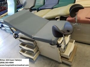 Ritter 204 Exam Table Ob Gyn Leg Pieces And Upholstery Warmer Included