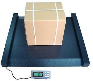 2000 X 0 5 Lb Digital Drum Scale 42x40 Inch Heavy Duty Steel Dual Ramps Shipping
