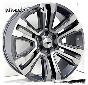 2018 Chevy Tahoe Ltz Oe Replica Wheels Gunmetal Machine 22 Inch Rims 6x5 5 24