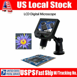 G600 Portable Hd3 6mp Ccd Digital Microscope Magnification Video Camera Magnifer