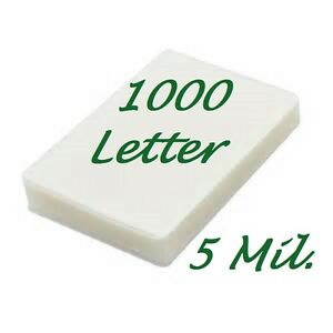 1000 Letter Laminating Pouches Laminator Sheets 9 X 11 1 2 5 Mil Scotch Quality
