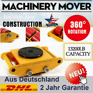 6t Heavy Machine Dolly Skate Roller Machinery Mover With 360 Degree Rotation Cap
