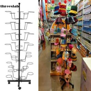New Style Cap Display Retail Rotating Adjustable Stand Hanger Rack Organization