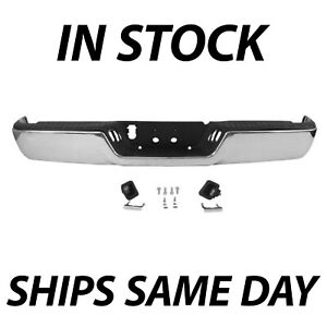 New Complete Steel Chrome Rear Bumper Assembly For 2009 2018 Dodge Ram 1500 Pkup