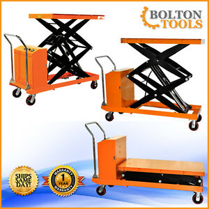 Bolton Tools Electric Powered Scissor Lift Cart Table 2200 Lb Capacity Etf100sd