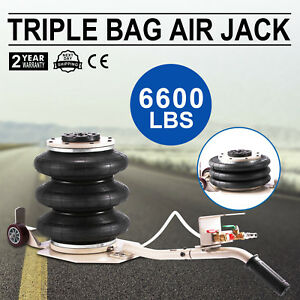 Triple Bag Air Jack Pneumatic Jack 6600lbs Quick Lift 3 Ton Heavy Duty Jacking