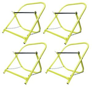 4pcs 4 Pack Cable Caddy Catv Wire Installer Spool Reel Holder Folding Yellow