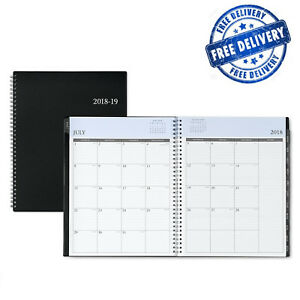 Academic Year Weekly Monthly Planner Twin Wire Binding Blue Sky 2018 2019 Notes