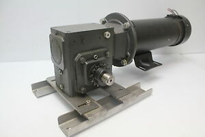 Dayton 2m170d 1 Hp Dc Motor With 4z306 Speed Reducer C face 56c 10 1 Used