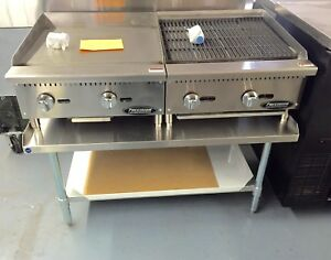 New 24 Flat Griddle Grill 24 Charbroiler And Table Package Deal Restaurant
