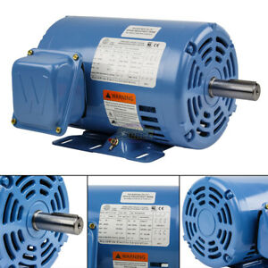 1 5 Hp 3 Phase Electric Motor 1800 Rpm 145t Frame Odp Open Drip Proof 230 460v