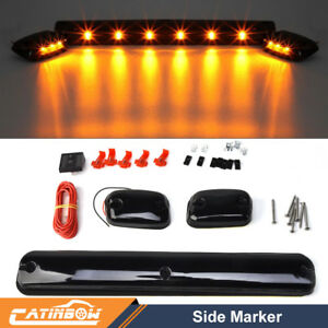 3 Smoke Cab Roof Running Amber 12 Led Light For 07 14 Chevy Silverado Gmc Sierra