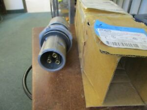 Crouse hinds Explosion Proof Arktite Plug Apj 6375 60a 600v 3w 3p New Surplus
