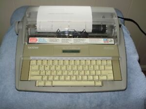 old Skool Brother Sx 4000 Electronic Typewriter With Display
