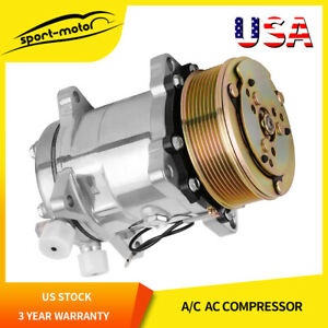 Ac A c Compressor And Clutch For Sanden Sd508 For Jeep Wrangler 1985 1990 9537