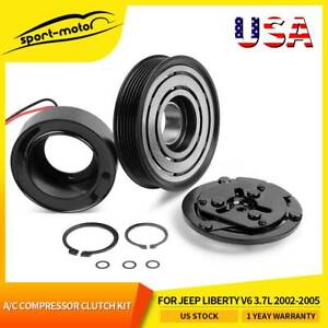 A C Compressor Clutch Kit Pulley Coil Fit For Jeep Liberty V6 3 7l 2002 2005