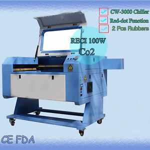 Reci I00w Co2 Usb Port Laser Engrave Cutting Machine 700 500mm With Rotary New