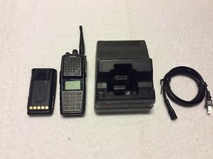 Harris Xg 75p 700 800 Mhz P25 Trunking Radio W charger