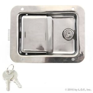 Toolbox Lock Stainless Door Paddle Handle Trailer Rv Latch Key Large 5 5 4 25