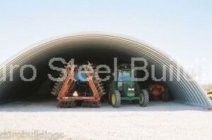 Durospan Steel 51x50x19 Metal Quonset Arch Building Open Ends Factory Direct