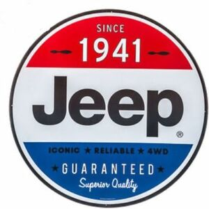 Vintage Style 1941 Jeep Metal Signs Oil Can Man Cave Garage Home Decor Dad Gift