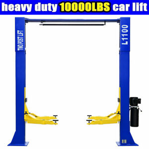 2 Post Car Lift L1100 Auto Truck Hoist 10 000 Lb Capacity Overhead Clear Floor