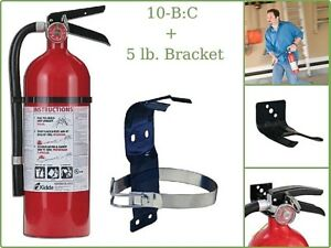 Rechargeable Fire Extinguisher Kidde Pro 2a 10 b c With 5 Lb Bracket Mounting