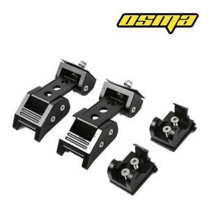 Pair 07 18 Jeep Wrangler Jk Unlimited Black Hood Catch Latches Locking Kit 2pc
