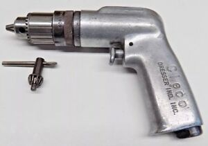 Nice Cleco 1 4 Pneumatic Drill With New Jacobs 7b Chuck And Key Aircraft Tool