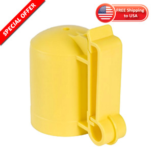 Safety Cap And Insulator For 1 25 1 33 T posts By Fi shock Set Of 10 Yellow