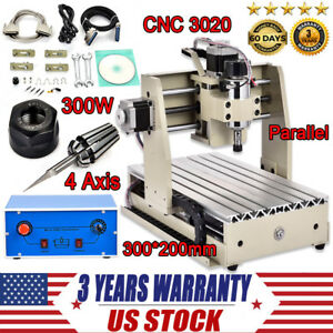 Top 4 Axis Cnc Router Engraver 3d Engraving Drilling Milling Machine 300w 3020
