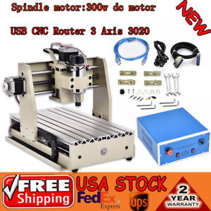 Usb Cnc Router Engraver Milling Machine Engraving Drilling 3 Axis 3020t Desktop