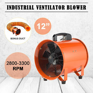 12 Inch Extractor Fan Blower Portable 5m Duct Hose Ventilator Industrial Air