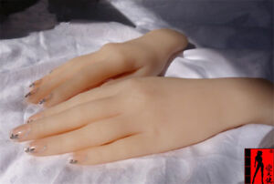 1pc Silicone Lifelike Female Hand Finger Mannequin Display Jewelry Model Props