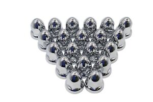 33mm Chrome Lug Nut Covers Bullet Style 20 Push On Plastic