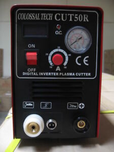 Plasma Cutter 50amp Cut50r Digital Inverter 220v 70 Consumables Nickel Plated