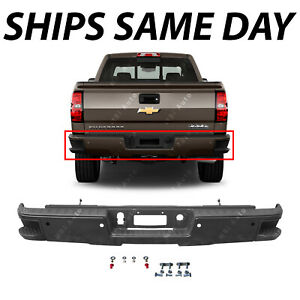 New Primered Rear Bumper For 2014 2018 Silverado Sierra 1500 W Corner Steps