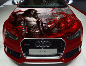 Vinyl Car Hood Wrap Full Color Graphics Decal Vampire Lord Blood Sticker