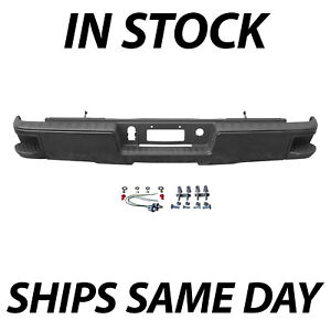 New Primered Rear Bumper For 2014 2018 Silverado Sierra 1500 Without Park Ast