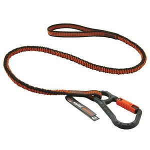 Ergodyne Squids 3107f x Shock Absorbing Tool Lanyard With Locking Carabiner