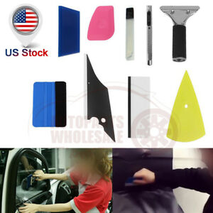 Professional 8in1 Car Window Tinting Film Install Tools Squeegee Scraper Kit Car