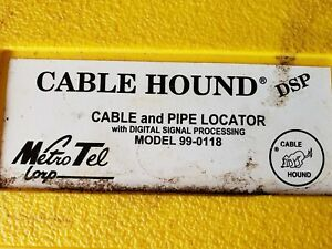 Metro Tel Cable Hound Cable Pipe Locator 99 0118